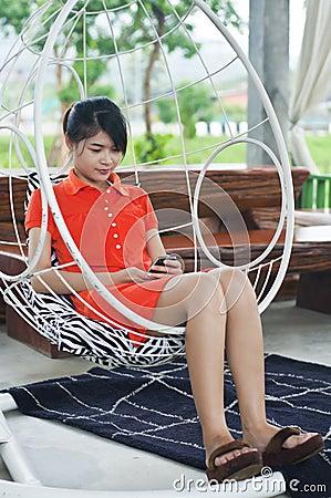 Beautiful Asian woman.