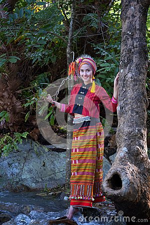 Free Beautiful Asian Woman With Thai Traditional Dress Explore At Wat Stock Images - 111092164