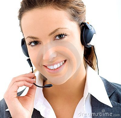 Free Beautiful Assistant With Headset Stock Image - 8850131