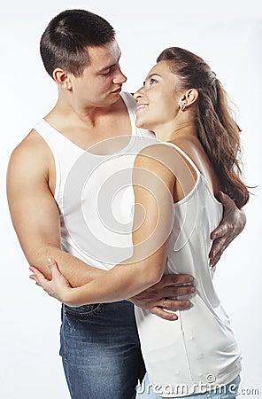 Beautiful athletic couple