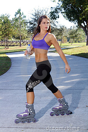 Beautiful Athletic Rollerblader Outdoors (1)