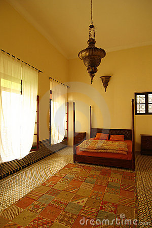 Free Beautiful Authentic Arabic Bedroom (Morocco) Stock Photography - 10855142