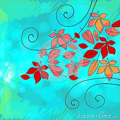 Beautiful autumn illustration