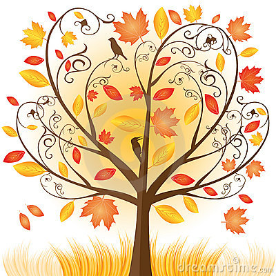 Free Beautiful Autumn Tree With Fall Leafs Royalty Free Stock Photos - 16183358