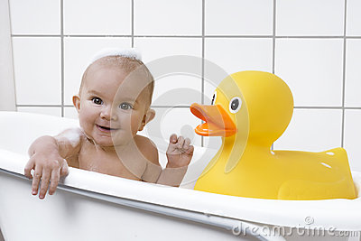 beautiful baby in a bath tub stock photo image 49843891. Black Bedroom Furniture Sets. Home Design Ideas