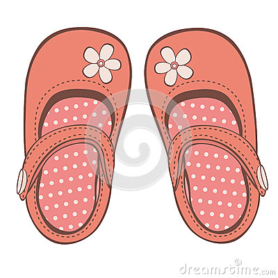 Beautiful Baby Girl Shoes Royalty Free Stock Photography - Image ...