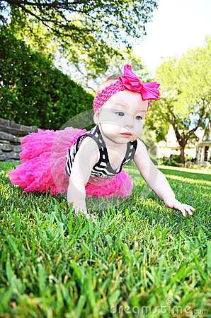 Beautiful Baby with Pink Bow