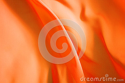 Beautiful background, flying orange fabric