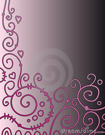Beautiful background with pink curls
