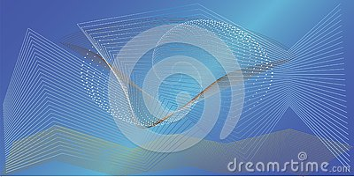 Beautiful background under water Vector Illustration