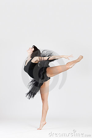 Beautiful ballerina doing split