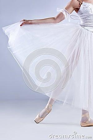 Beautiful ballerina posing