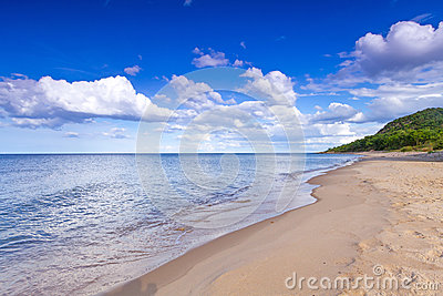 Beautiful beach of Baltic Sea