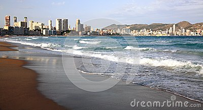 Beautiful beach in Benidorm Spain