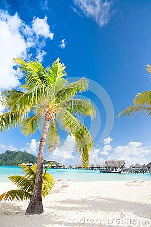Beautiful beach on Bora Bora