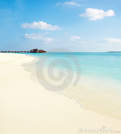 Beautiful Beach With Cloudy Sky Royalty Free Stock Photography - Image: 19900017