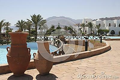 Beautiful beach hotel view