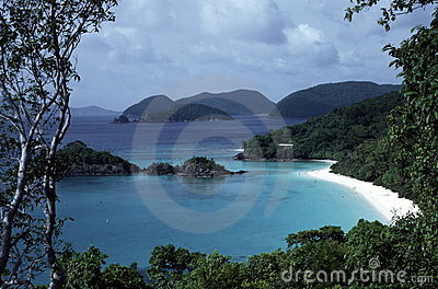 Beautiful beach/island vista