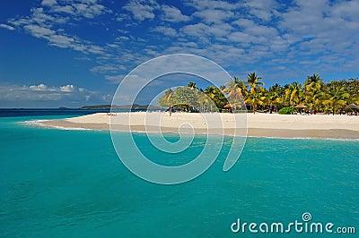 Beautiful beach on Palm Island
