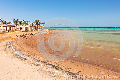 Beautiful beach of Red Sea