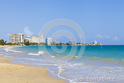 Beautiful beach in San Juan