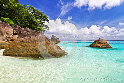 Beautiful beach scenery of Similan Islands