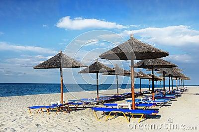 Beautiful Beach Sun Umbrellas