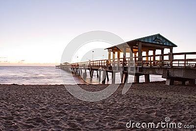 Beautiful beach sunrise in Florida