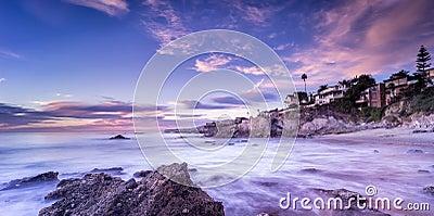 Beautiful beach sunset in California