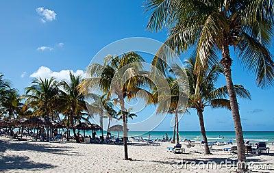 Beautiful beach in Varadero, Cuba Editorial Image