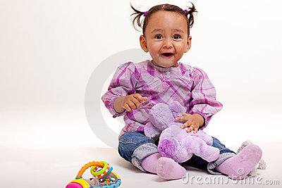 Beautiful biracial baby  surprised