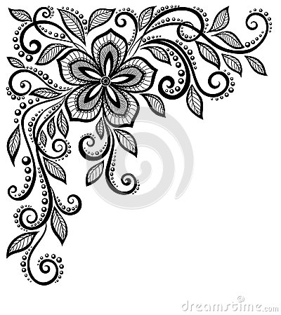 Free Beautiful Black-and-white Lace Flower In The Corne Stock Photos - 31515123