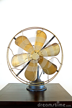 Beautiful black antique brass fan