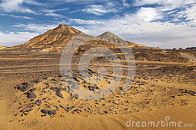 Beautiful black desert landscape