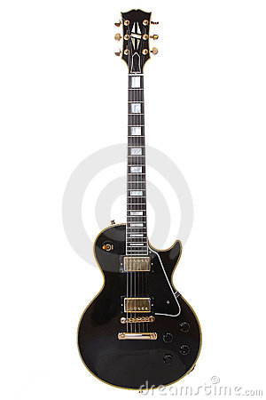 Beautiful black electric guitar