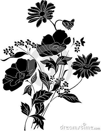 Beautiful black flower bouquet