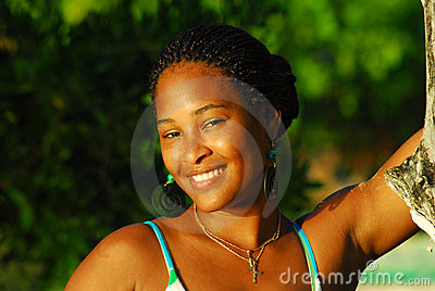 Beautiful black island girl