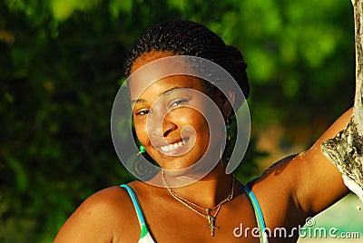 Beautiful black island girl