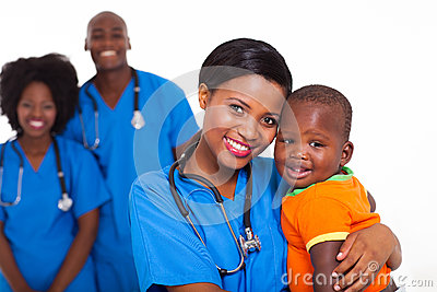 Black pediatrician baby