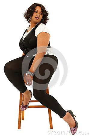 Beautiful Black Plus Sized Woman
