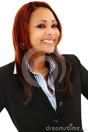 Beautiful Black Professional Woman In Suit