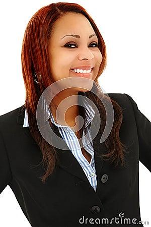 Beautiful Black Professional Woman In Suit