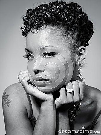 Free Beautiful Black Woman Stock Photo - 3285080