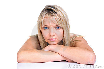 Beautiful blond with blue eyes