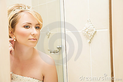 Beautiful blond bride