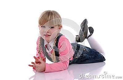 Beautiful blond child