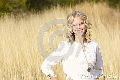 Beautiful Blond Confident Woman Portrait