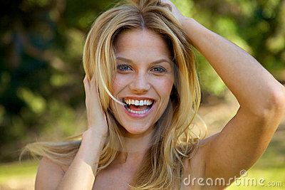 Beautiful Blond with Toothy Smile