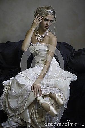 Free Beautiful Blonde Bridal Ballerina Stock Photo - 34602130