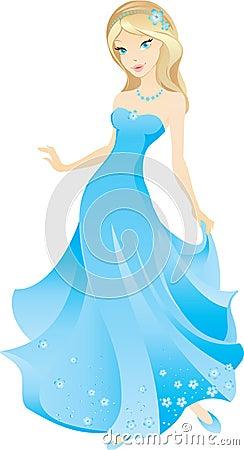 Free Beautiful Blonde Cartoon Girl Stock Photography - 7128502